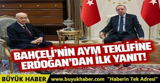 Cumhurbaşkanı Erdoğan'dan Bahçeli'nin AYM teklifine ilk yanıt