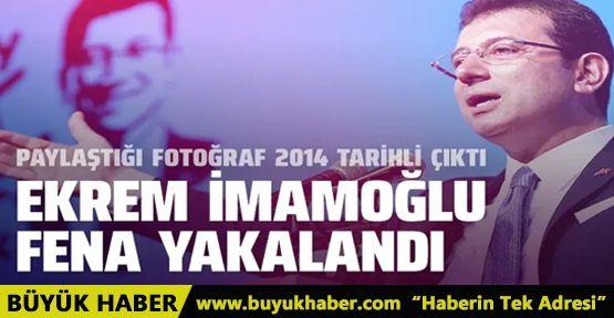 Ekrem İmamoğlu'nun paylaştığı fotoğraf 2014 tarihli çıktı