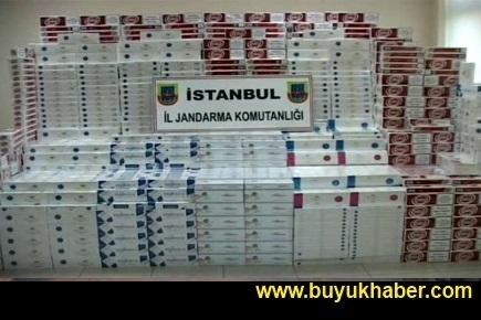 Esenyurt'ta kaçak sigara operasyonu
