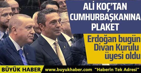 Fenerbahçe'den Erdoğan'a Plaket