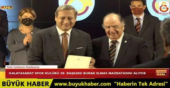 Galatasaray'da yeni başkan Burak Elmas mazbatasını aldı