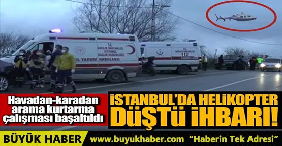 İstanbul'da helikopter düştü iddiası!