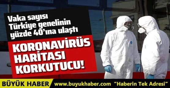 İşte vaka sayısında Ankara'nın 5 katı olan İstanbul'un koronavirüs haritası!