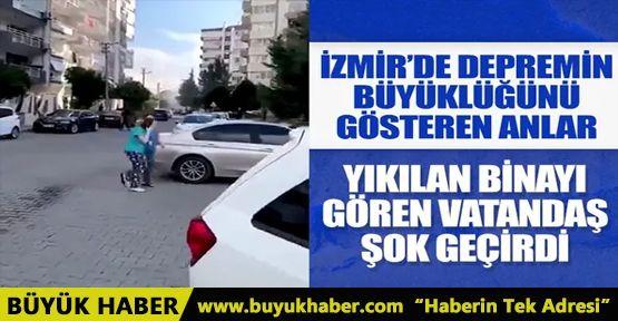 İzmir'de şiddetli deprem! İşte o anlara dair görüntüler