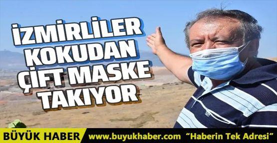 İzmir'deki çöp kokusu çileden çıkardı! Çift maskeye geçtiler