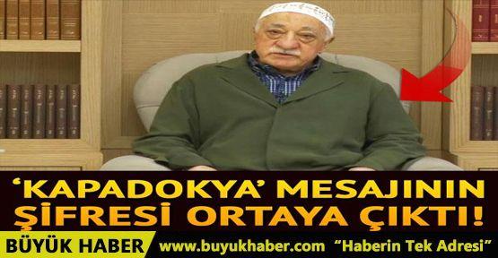 'Kapadokya' mesajının şifresi ortaya çıktı...