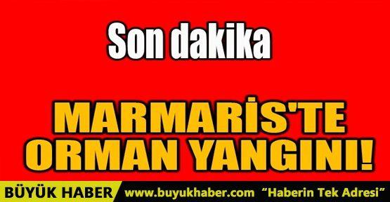 MARMARİS'TE ORMAN YANGINI!