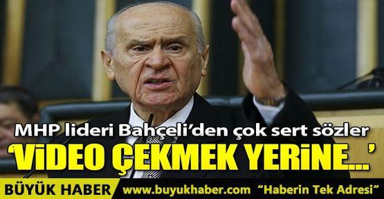 MHP lideri Bahçeli'den CHP lideri Kılıçdaroğlu'na sert sözler