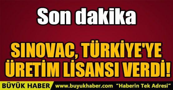 SINOVAC, TÜRKİYE'YE ÜRETİM LİSANSI VERDİ