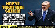 Cumhurbaşkanı Erdoğan'dan HDP'ye tokat...