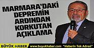 Marmara'da deprem oldu korkutan açıklama...
