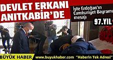 Erdoğan devletin zirvesi ile birlikte Anıtkabir'de