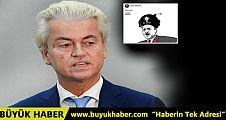 Geert Wilders'ten skandal paylaşım