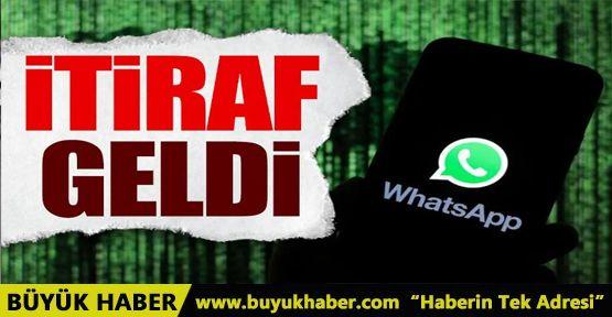 WhatsApp'tan 'sözleşme' itirafı